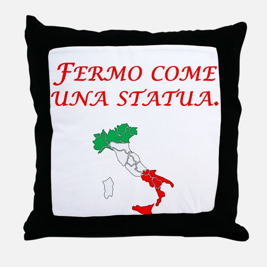Italian Proverb Statue Throw Pillow