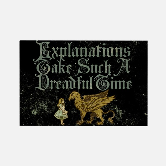 Alice Gryphon Explanations Rectangle Magnet