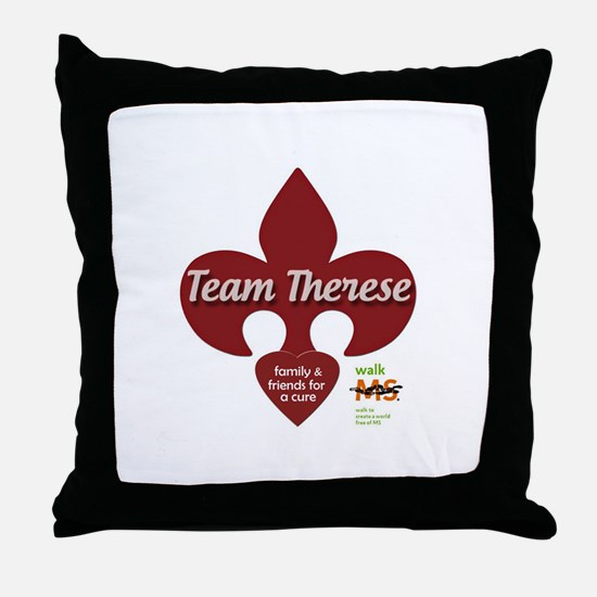 Team Therese MS Walk 2013 Throw Pillow