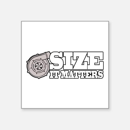 "Size Matters Square Sticker 3"" x 3"""