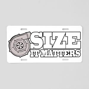 Size Matters Aluminum License Plate