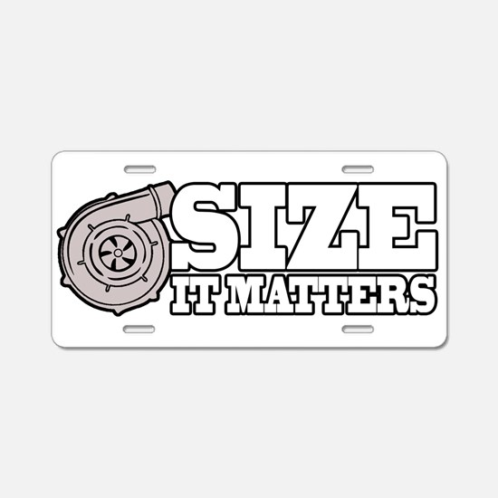 Size Matters Aluminum License Plate
