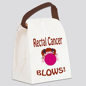 Rectal Cancer Blows! Canvas Lunch Bag