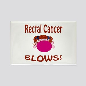 Rectal Cancer Blows! Rectangle Magnet