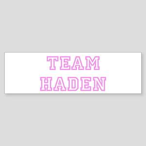 Pink team Haden Bumper Sticker