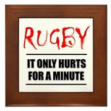 It Only Hurts 1 Rugby Framed Tile