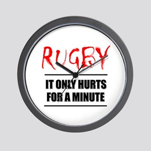 It Only Hurts 1 Rugby Wall Clock