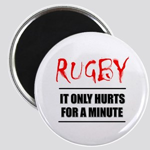 It Only Hurts 1 Rugby Magnet