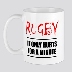 It Only Hurts 1 Rugby Mug