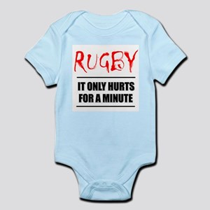 It Only Hurts 1 Rugby Infant Bodysuit