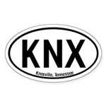 Knoxville, Tennessee Oval Sticker