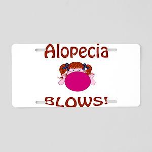 Alopecia Blows! Aluminum License Plate