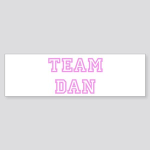 Pink team Dan Bumper Sticker