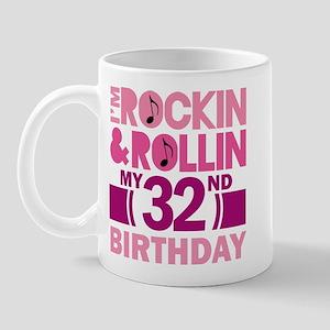 32nd Birthday rock and roll Mug