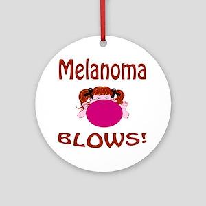 Melanoma Blows! Ornament (Round)