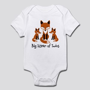 Big Sister of Twins - Mod Fox Infant Bodysuit