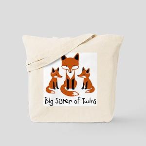 Big Sister of Twins - Mod Fox Tote Bag