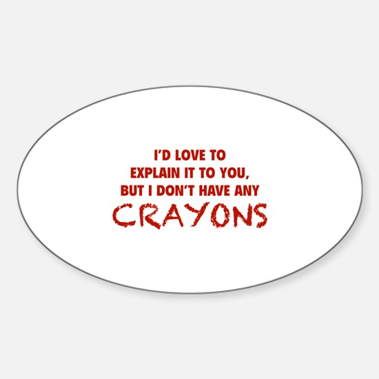 Crayons Sticker (Oval)