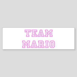 Pink team Mario Bumper Sticker