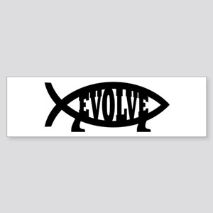 Evolve Fish Symbol Bumper Sticker