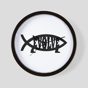 Evolve Fish Symbol Wall Clock