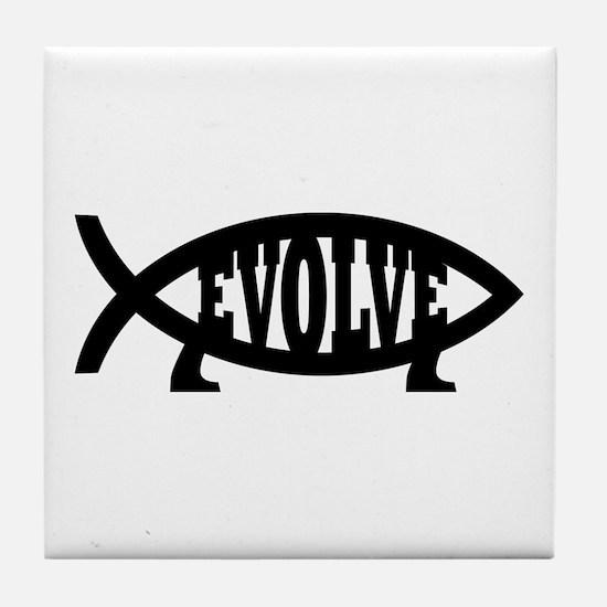 Evolve Fish Symbol Tile Coaster
