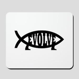 Evolve Fish Symbol Mousepad