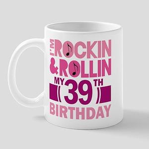 39th Birthday rock and roll Mug