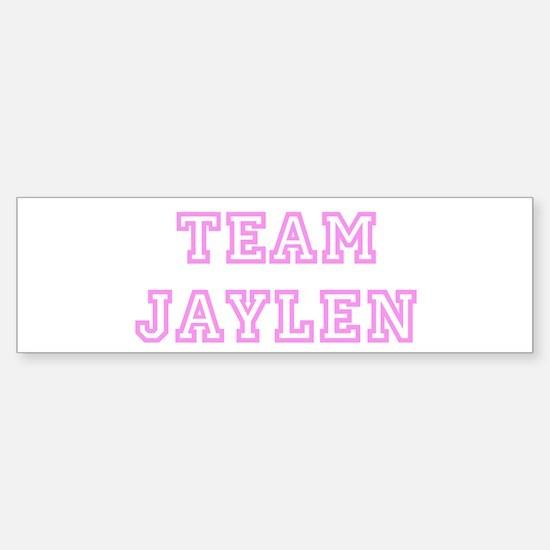 Pink team Jaylen Bumper Bumper Bumper Sticker