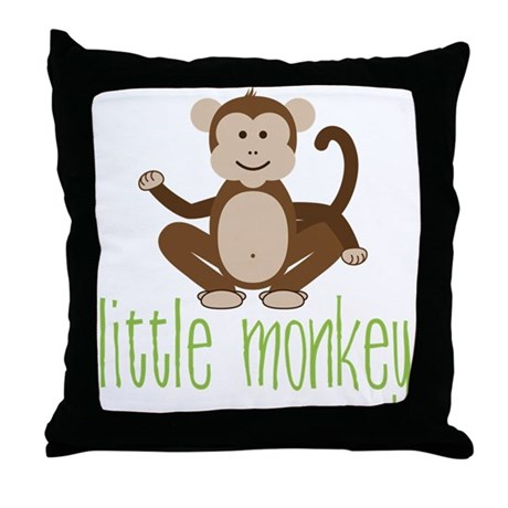 Little Monkey Throw Pillow