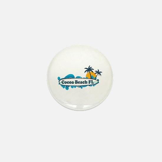 Cocoa Beach - Surf Design. Mini Button