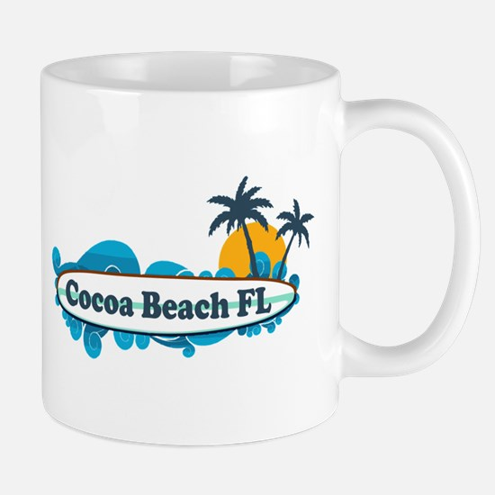 Cocoa Beach - Surf Design. Mug