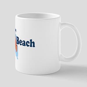 Cocoa Beach - Map Design. Mug