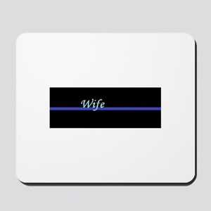 Blue Line Wife Mousepad