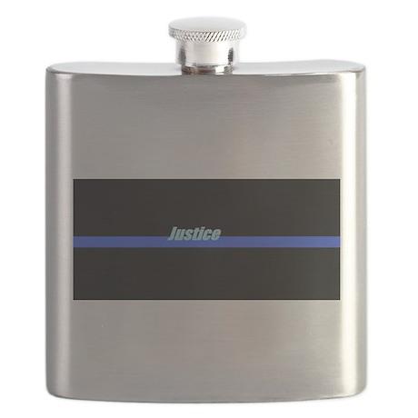 Blue Line Justice Flask