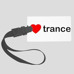 I Love Trance DJ Large Luggage Tag
