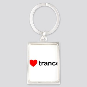 I Love Trance DJ Portrait Keychain