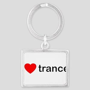 I Love Trance DJ Landscape Keychain