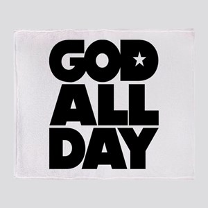 GOD ALL DAY Throw Blanket