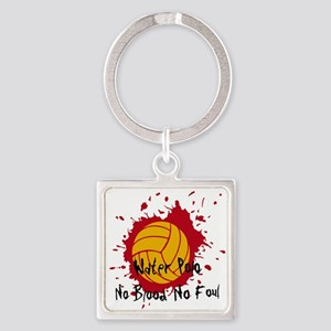 No Blood No Foul Square Keychain