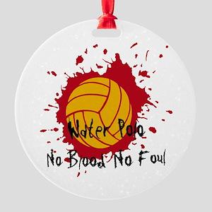 No Blood No Foul Round Ornament