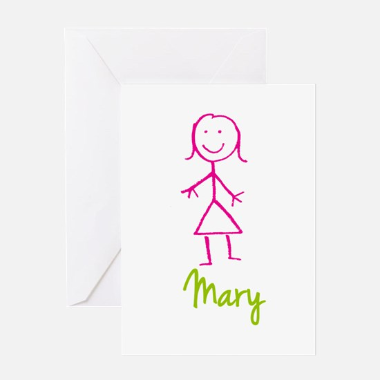 Mary-cute-stick-girl.png Greeting Card
