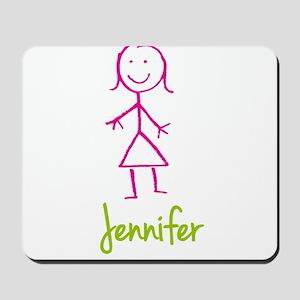 Jennifer-cute-stick-girl Mousepad