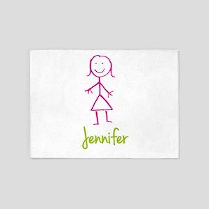 Jennifer-cute-stick-girl 5'x7'Area Rug