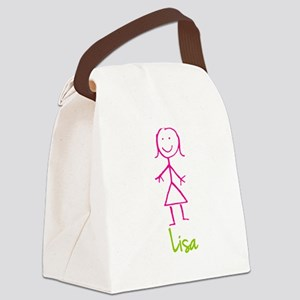 Lisa-cute-stick-girl Canvas Lunch Bag