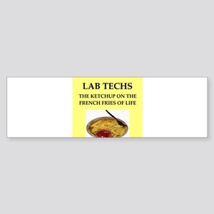 lab techs Sticker (Bumper)