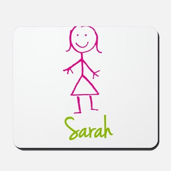 Sarah-cute-stick-girl.png Mousepad