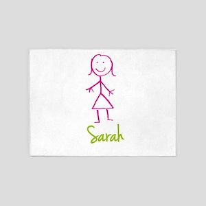 Sarah-cute-stick-girl 5'x7'Area Rug