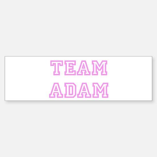 Pink team Adam Bumper Bumper Bumper Sticker
