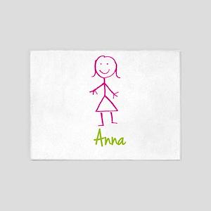 Anna-cute-stick-girl 5'x7'Area Rug